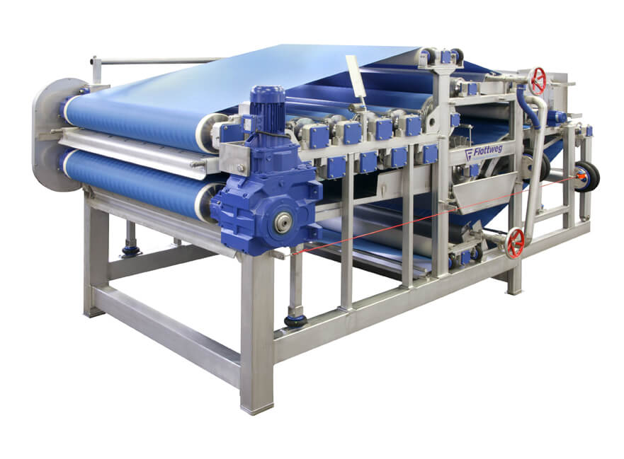 Mechanical dewatering of brewer