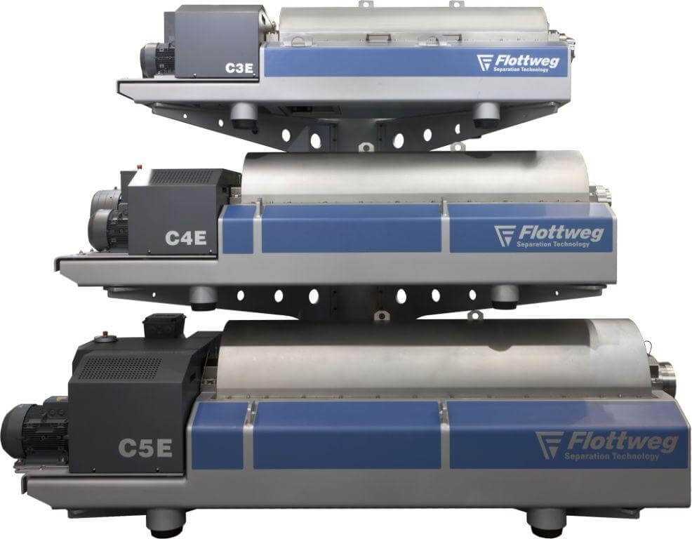 rental maschines: decanters, separator, belt presses