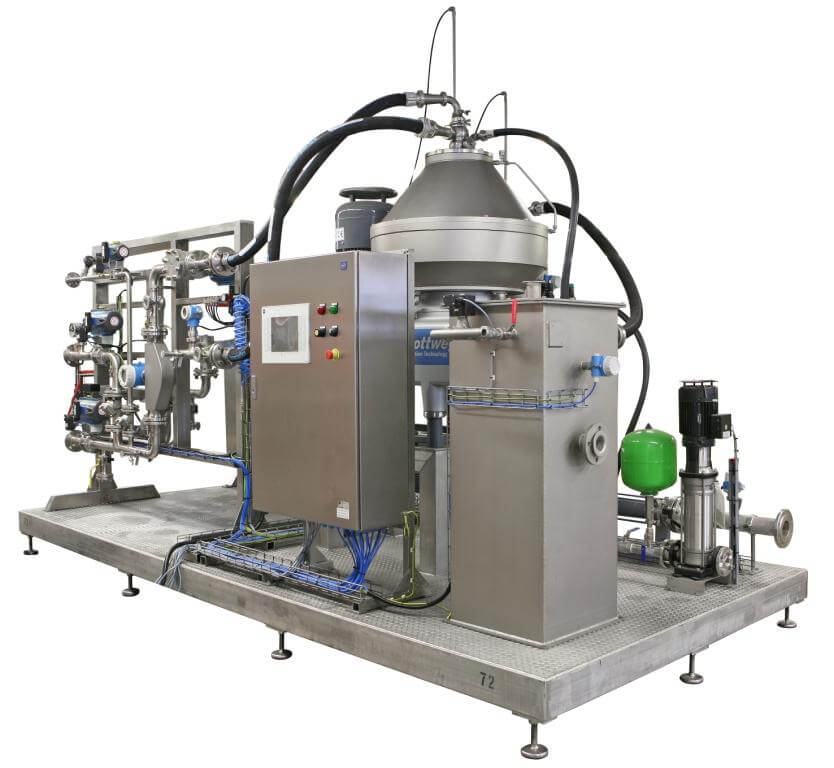 The Soft Shot® discharge system for the Flottweg separator